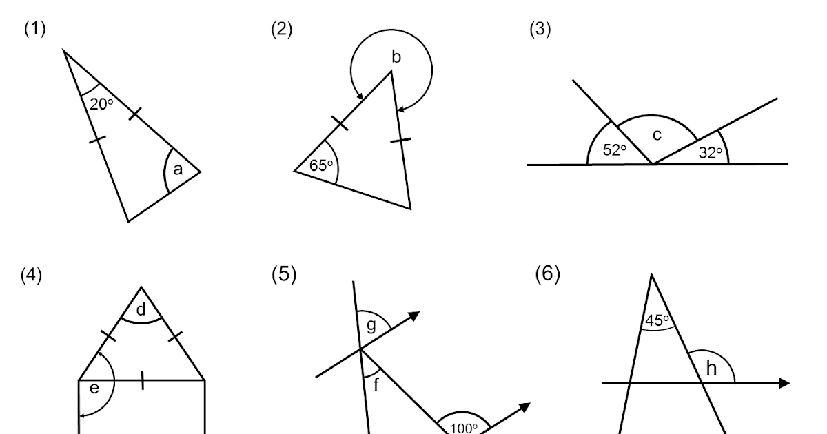 MEDIAN Don Steward mathematics teaching: missing angles