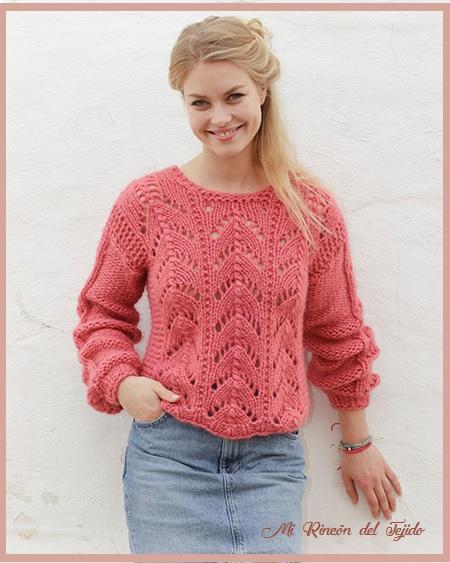❤ ✿ Mi Rincón del Tejido ✿ ❤: Suéter tejido en dos agujas (palillos)