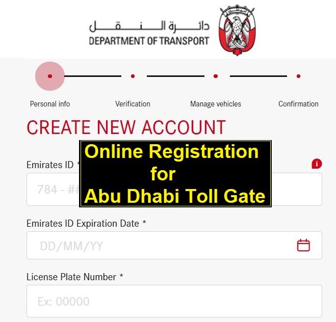 Abu Dhabi toll registration online