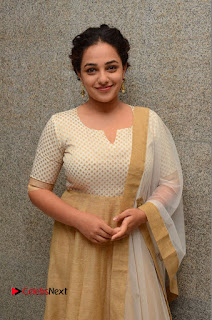 Actress Nithya Menen Pictures at 100 Days of Love Pre Release Press Meet  0056