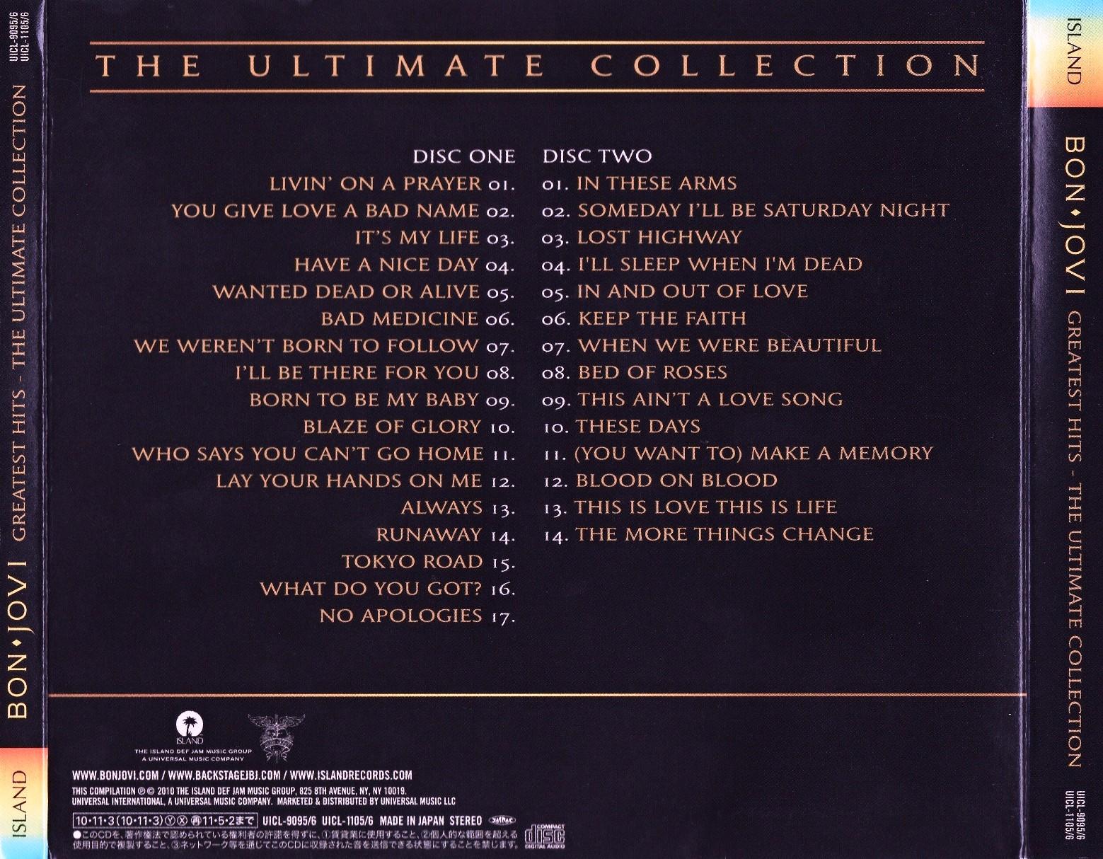 Bon Jovi Ultimate Collection: Bon Jovi Greatest Hits 2010 Free Download
