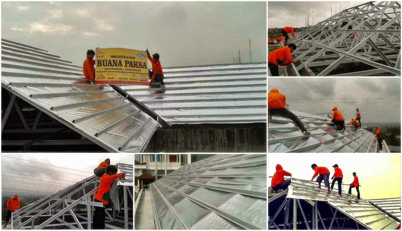 distributor atap baja ringan yogyakarta galvalum zincalum tanpa screw baut optima klip-lok ...
