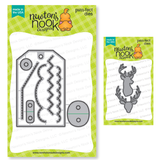 Fancy Edges Tag  and Splendid Stags Die Sets by Newton's Nook Designs #newtonsnook #handmade
