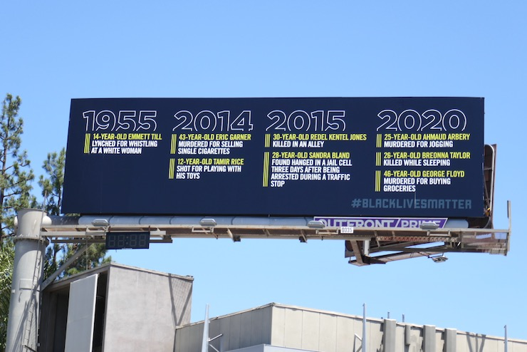 Black Lives Matter Deaths over the years billboard