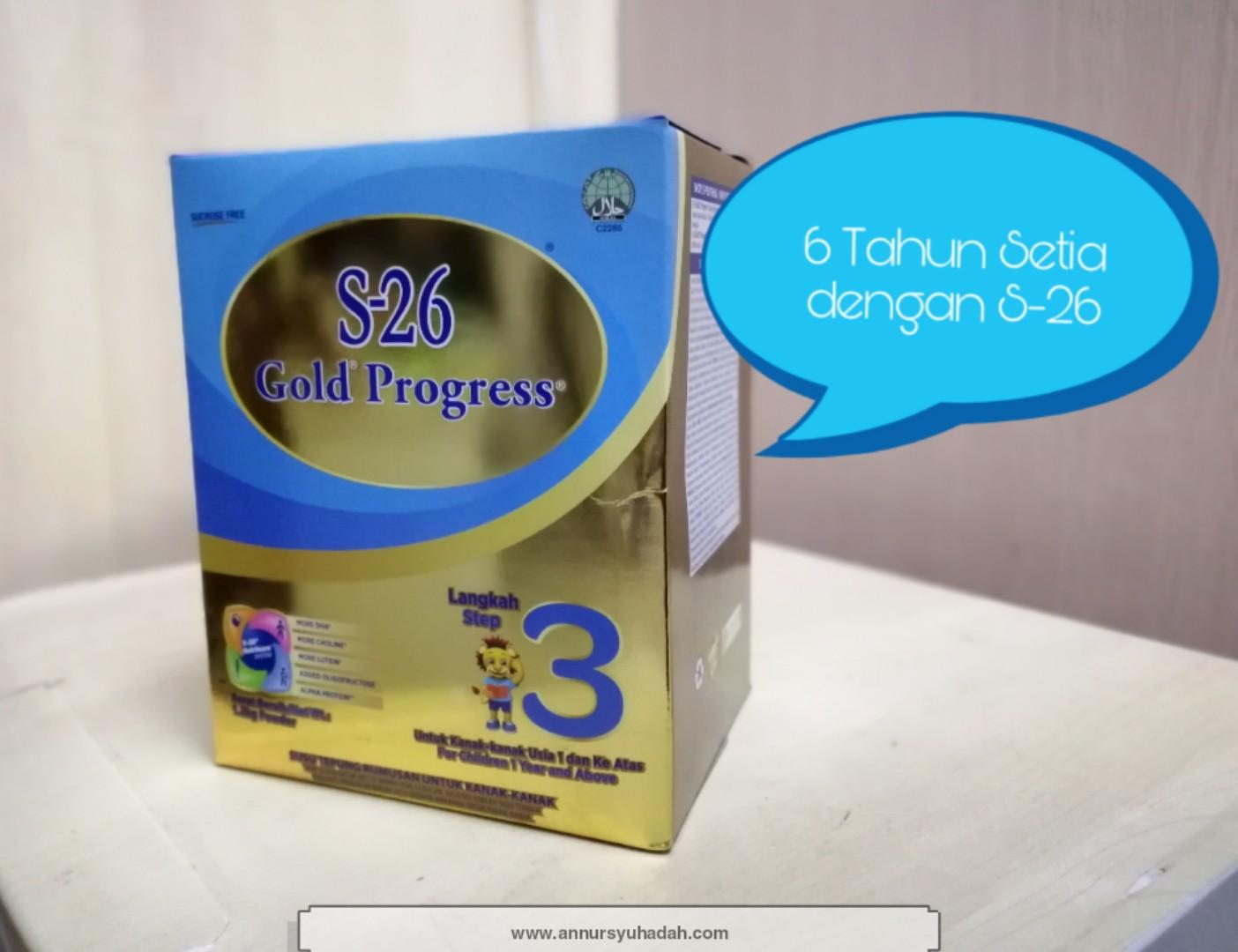 6 sebab kenapa saya suka susu S26 Gold Progress, harga susu s26, status halal susu s26, susu formula untuk anak sembelit,
