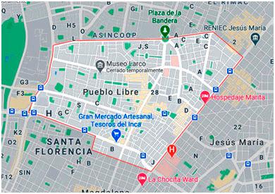 Mapa Pueblo Libre