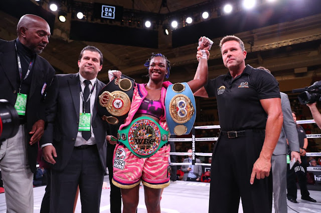 Claressa Shields Decisions Hannah Rankin, Defends And Claims IBF/WBA/WBC Titles