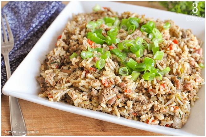 como fazer arroz sujo americano