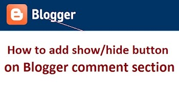 How to add show and hide button on Blogger comment section?
