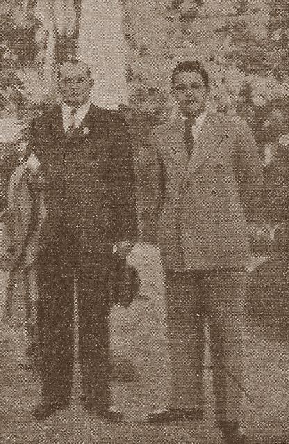Alekhine y Francisco José Pérez en Madrid el 3 de septiembre de 1941