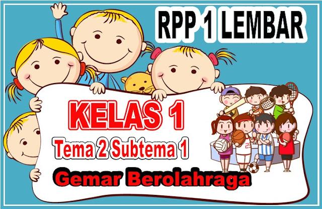 RPP 1 Lembar Kelas 1