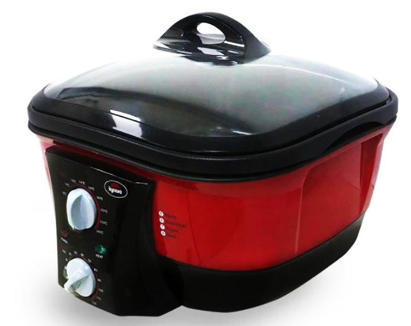 8-in1 Multi-Cooker - Cook rice, Deep fry, Keep warm, Saute, Slow Cook, Steam, Stew, and Roast
