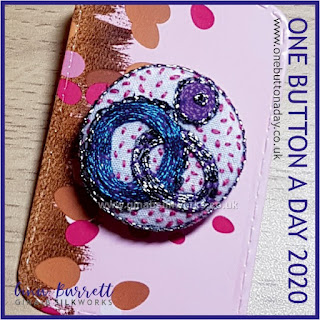 One Button a Day 2020 by Gina Barrett - Day 171 : Intertwined