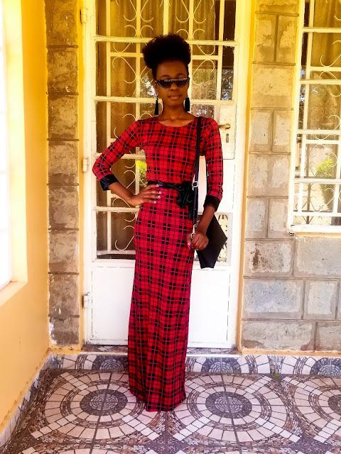 A Simple Idea On How To Wear A Plaid Maxi Dress