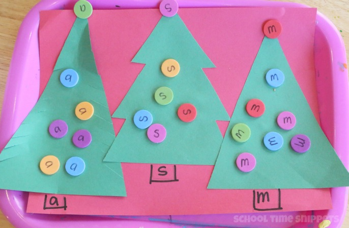 Preschool Christmas Theme Letter Sort