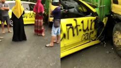 Pengendara Nyaris Tewas di Bone, Mobil Masuk ke Kolong Truk