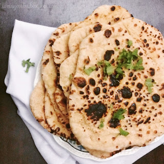 Butter Naan on Stove-top