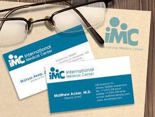Tấm card visit bác sĩ xây dựng thương hiệu riêng ngành Y