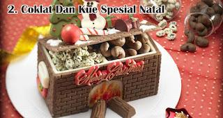 Coklat Dan Kue Spesial Natal merupakan salah satu rekomendasi kado natal spesial untuk sahabat tercinta