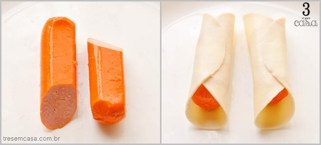 pastel de salsicha