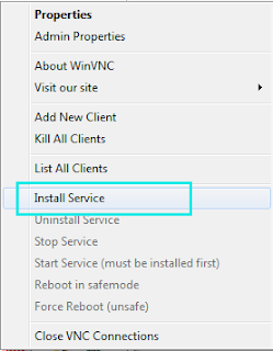 Install Service UltraVNC