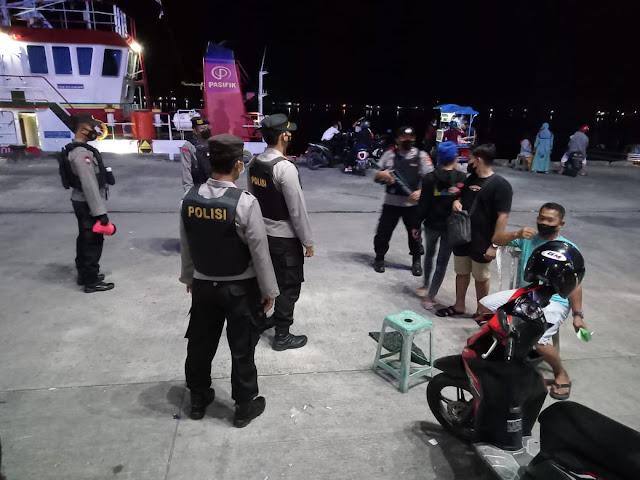 Antisipasi Premanisme Daerah Pelabuhan, Polsek KP. Mentaya Melakukan Patroli KRYD