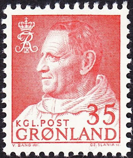 Greenland - 1964 - 35 Ore Dull Red King Frederick IX