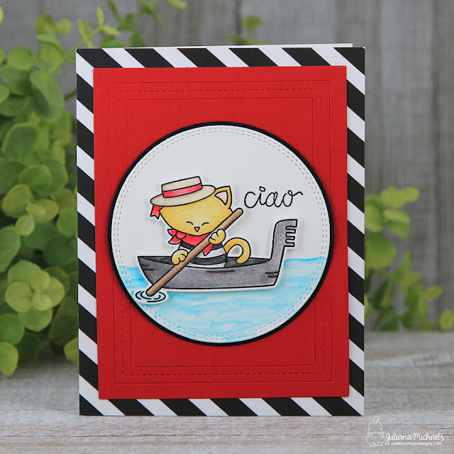 Ciao Hello Card by Juliana Michaels featuring Newton's Nook Designs Newton Dreams of Italy Stamp Set