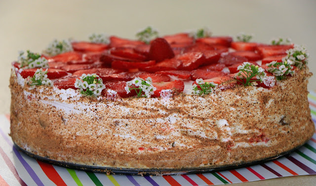 Plazma-šlag-torta-sa-jagodama-video-recept