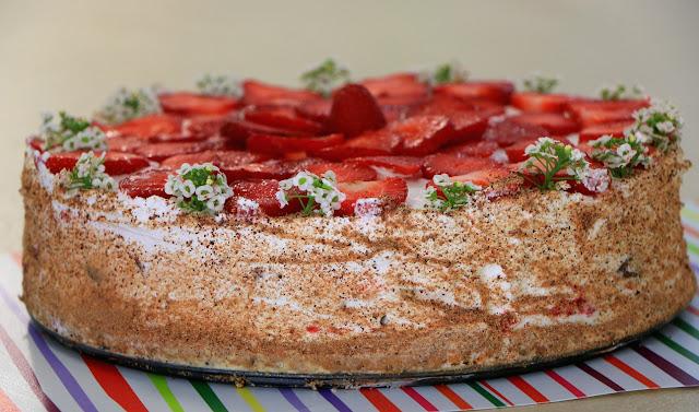 Plazma-šlag-torta-sa-jagodama-video-recept