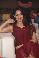 Pragya Jaiswal in Stunnign Deep neck Designer Maroon Dress at Nakshatram music launch ~ CelebesNext Celebrities Galleries 145.JPG