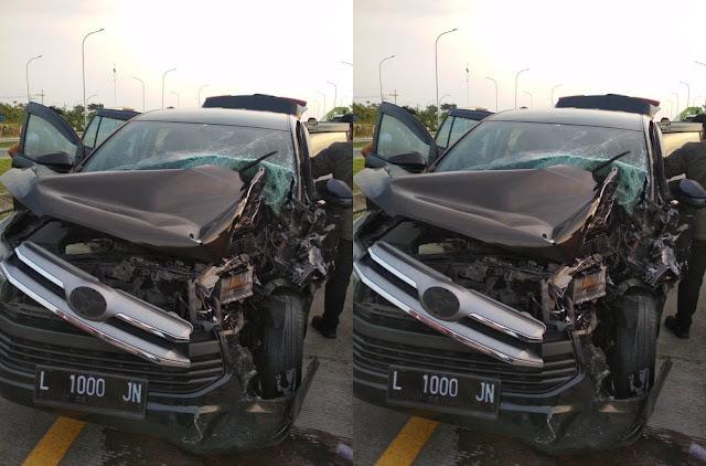 Rombongan Gubernur Jatim dan Pangdam selamat dari kecelakaan maut di Kertosono