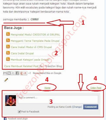 facebook comment blog