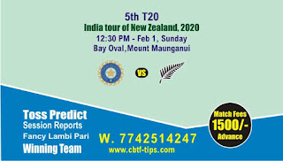 Who will win Today, 5th T20 Match Ind vs Nz - Cricfrog
