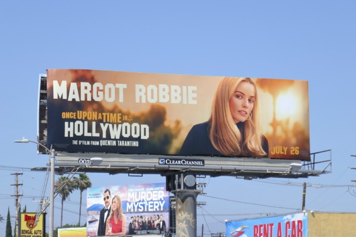 Margot Robbie Once Upon a Time in Hollywood billboard