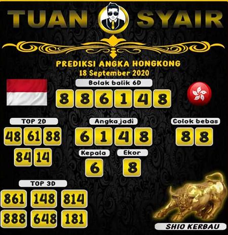 Prediksi Tuan Syair HK Jumat 18 September 2020