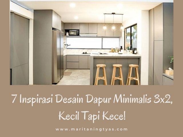 ide desain dapur minimalis 3x2