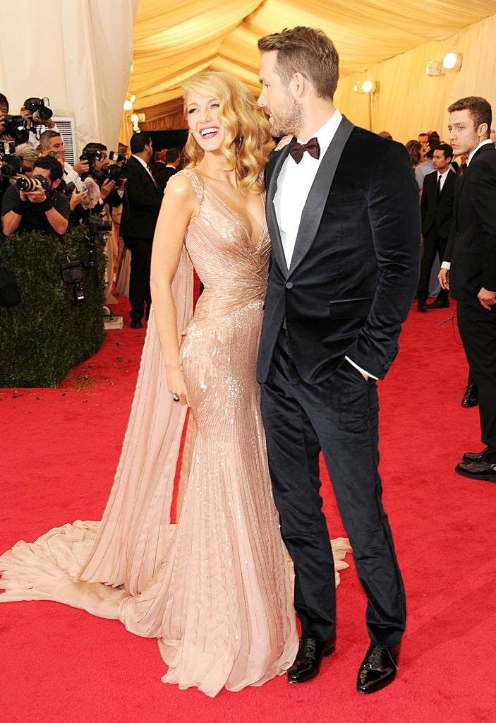 Fashionable Couples at the 2014 Met Gala Blake Lively and Ryan Reynolds in Gucci