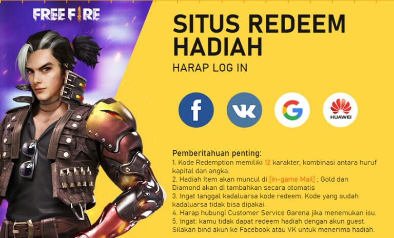 General terms and conditions for redeeming FF codes