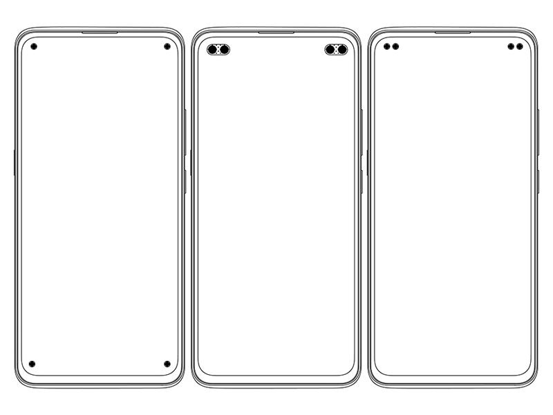 Vivo patents quad punch-hole screen designs