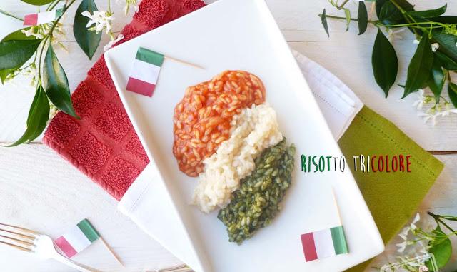 Risotto tricolore per L'Italia nel Piatto