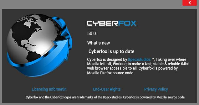 تنزيل برنامج Cyberfox القديم برابط مباشر من الموقع الرسمي