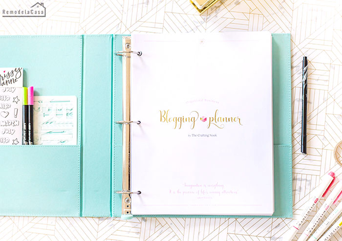 Blogging Planner by The Crafting Nook
