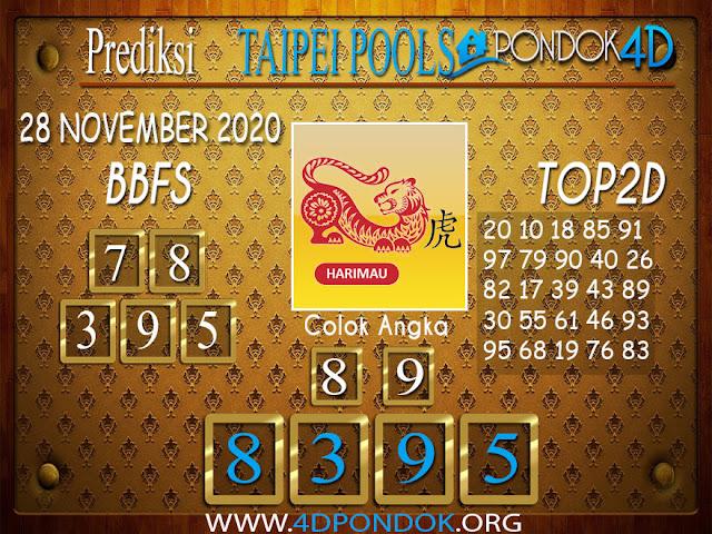 Prediksi Togel TAIPEI PONDOK4D 28 NOVEMBER 2020