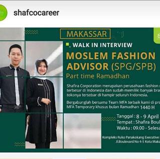 Lowongan Kerja di Shafira Corporation Makassar