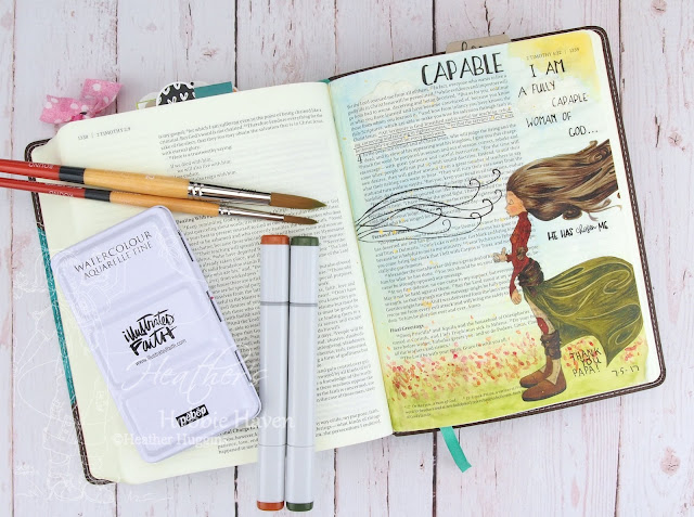 Heather's Hobbie Haven - Bible Journaling - 2 Timothy 3:16-17