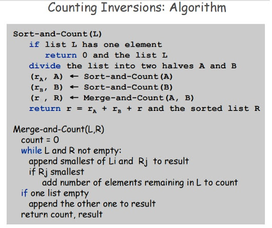 Count inversions - Extended merge sort - 3 Lecture Notes Study