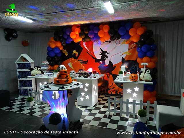 Halloween - Decoração para festa de aniversário infantil - Mesa provençal