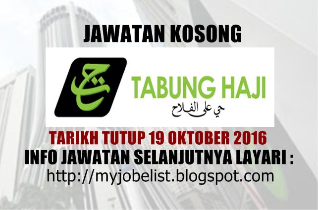 Jawatan kosong terkini di Lembaga Tabung Haji (LTH) Oktober 2016