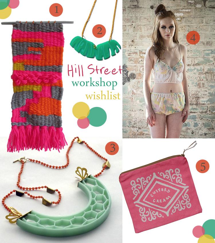 Hill Street Design House, Edinburgh design house, Edinburgh bloggers, workshops, creative classes, creative workshops, weaving workshop, resin jewellery workshop, acrylic jewellery workshop, silk marbeling workshop, biscuit clutch workshop